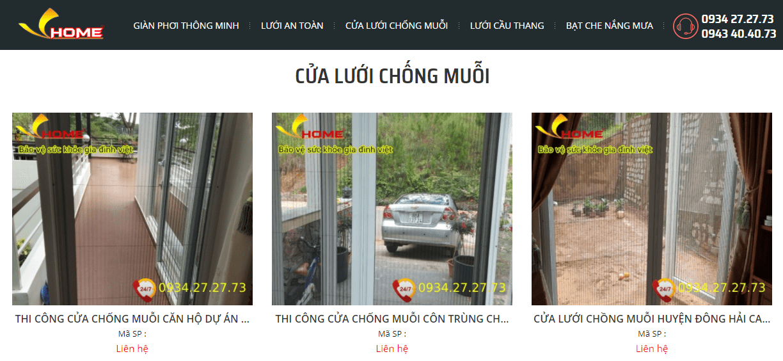Cửa lưới chống muỗi Biên Hòa